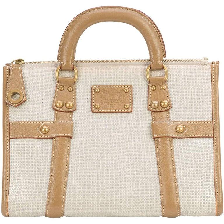 Louis Vuitton Canvas Cognac Speedy 30 Top Handle Satchel Bag