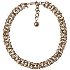 Reinad 5th Av NY Gold Tone Link Necklace