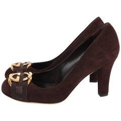 Gucci Suede Pumps - dark brown