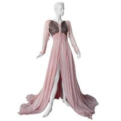 Rare Antonio Berardi Boho Chic Beaded Voluminous Gown