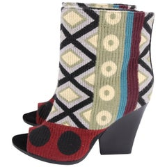 Burberry Virginia Tapestry Booties - multi color
