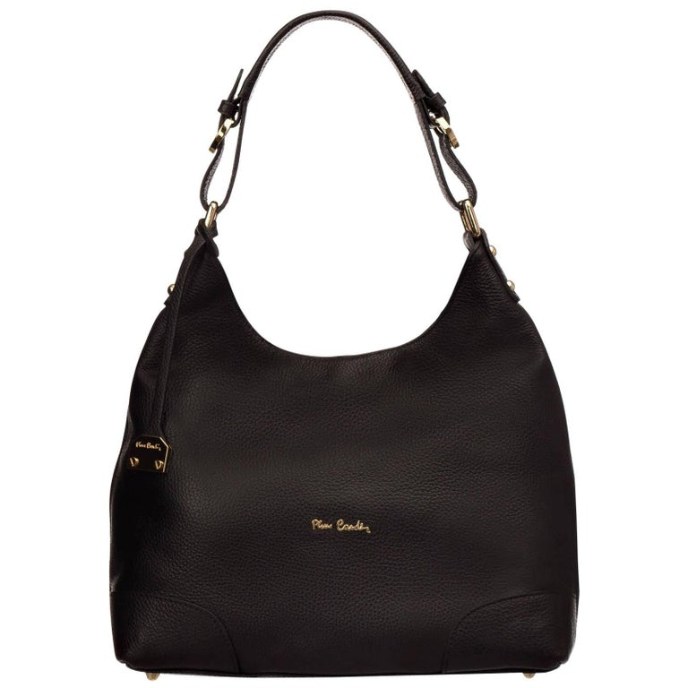 Pierre Cardin New black leather hobo bag handbag