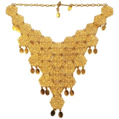 1960s Egyptian Revival Bib necklace by Vendome