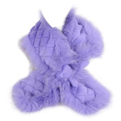 Etro Lavender Fox and Lapin Fur Scarf