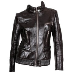 Versace VJC Leather Jacket - black