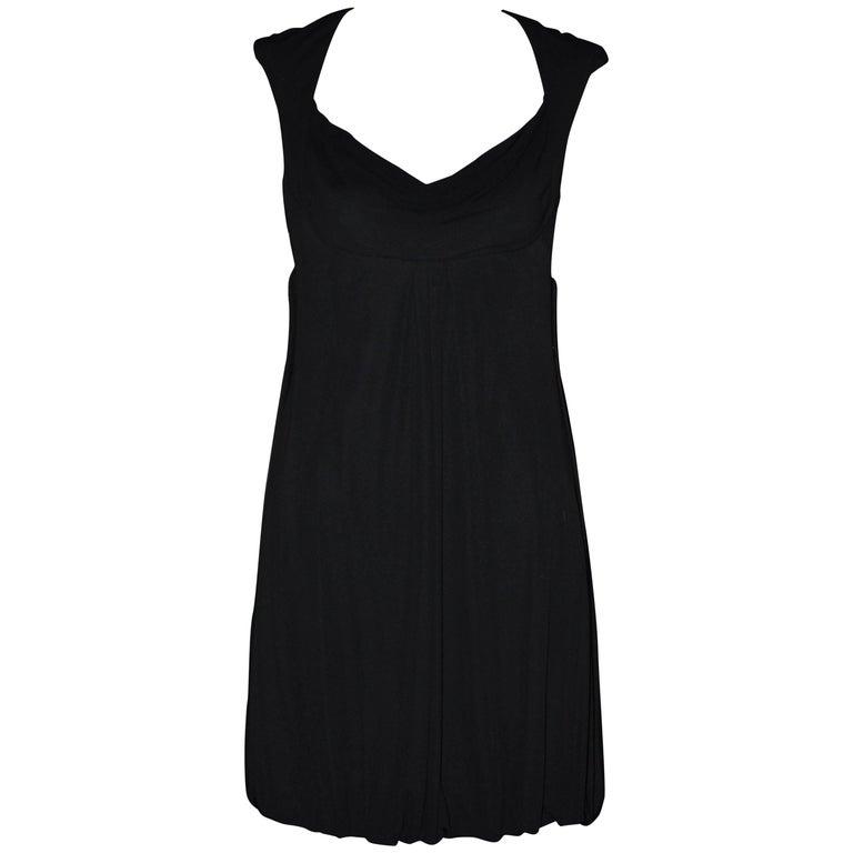 Badgley Mischka Black Princess Bubble Dress 2000s For