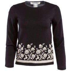 1990's Comme des Garçons Floral Embroidered Knit Top