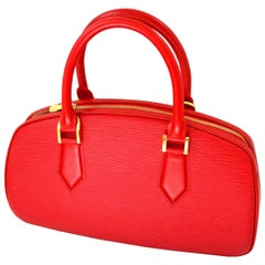 Louis Vuitton Red Speedy Epi Leather Bag