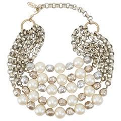 Stunning C.1990 Yves Saint Laurent Multi-Strand Pearl Necklace