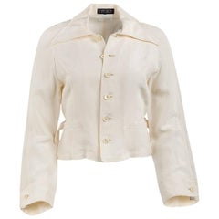 1980's Matsuda Cream Wide Collar Fitted Jacket