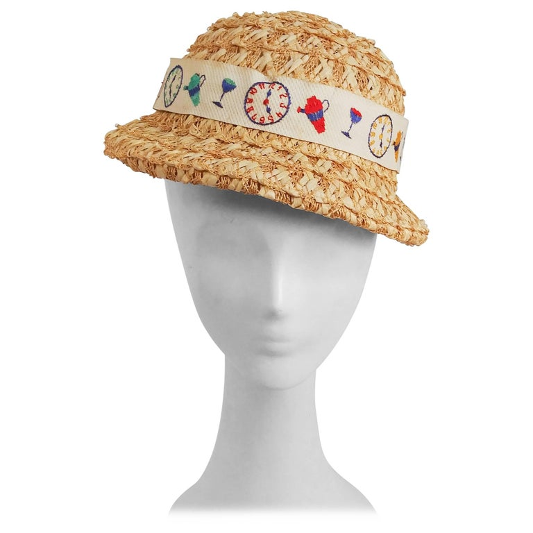 1930s Cocktail Time Straw Hat