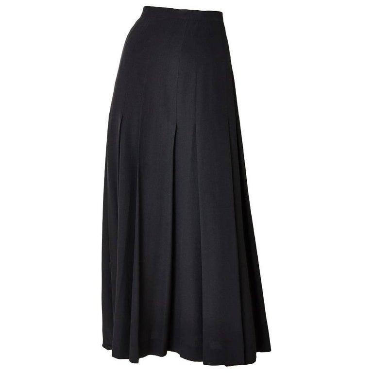 Chanel Box Pleated Evening Skirt