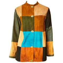 Bonnie Cashin Patchwork Suede and Leather Jacket