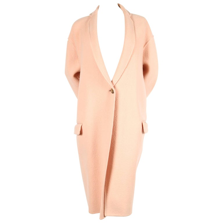 CELINE blush cashmere runway coat - 2013 1