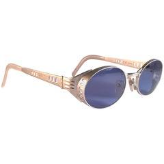 New Vintage Jean Paul Gaultier 56 6102 Matte Silver JPG 1980 Sunglasses