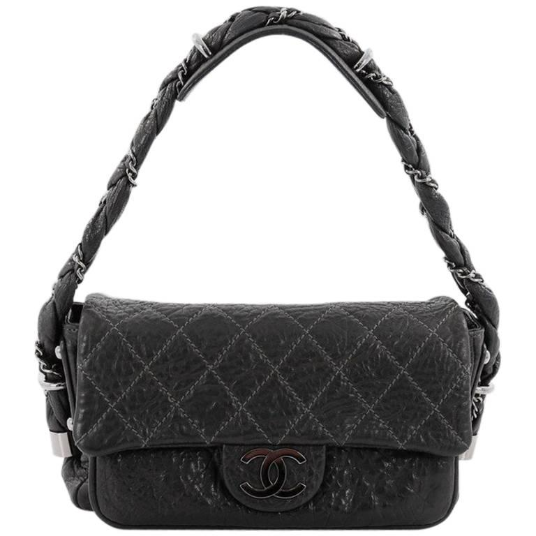 bba00add16c7 Chanel Lady Braid Flap Bag Quilted Distressed Lambskin Small at 1stdibs