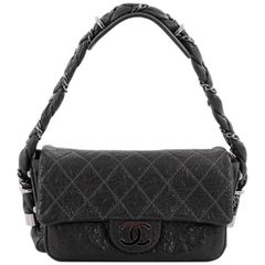 Chanel Lady Braid Flap Bag Quilted Distressed Lambskin Small