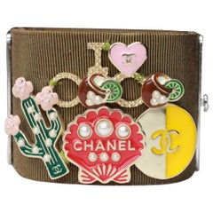 2017 Chanel khaki cuff bracelet from the Paris- Cuba Collection
