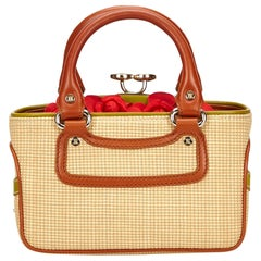 Celine Biege Cotton Mini Luggage Tote Bag