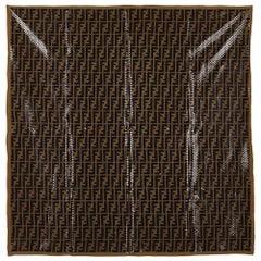 Fendi Polka Dotted Zucca Pattern Silk Scarf
