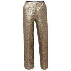 "Yves Saint Laurent "" Rive Gauche "" Silk Brocade Trousers"