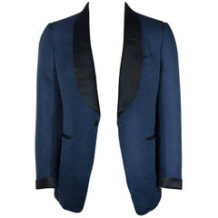 Tom Ford Blue Shelton Base Textured Lapel Tuxedo Jacket