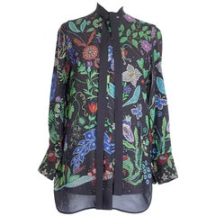 Valentino Top Silk Tunic Floral Design Like New