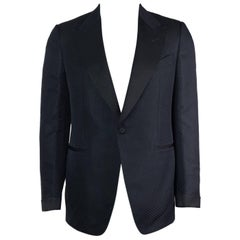 Tom Ford Polka Dot Jaquard Shelton Peak Cocktail Jacket