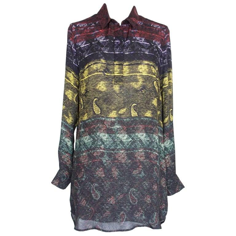 Mary Katrantzou Top Silk Tunic Paisley Design XS