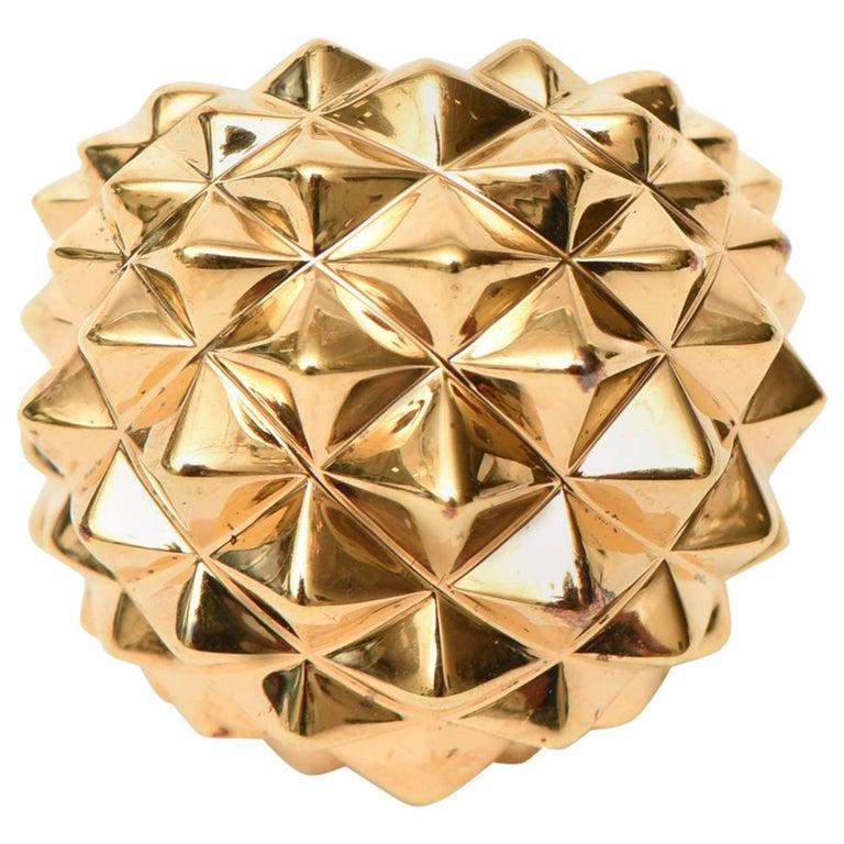 Stephen Webster Gold Plate Over Sterling Silver Stud / Dome Ring  For Sale