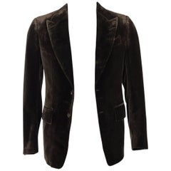 Tom Ford Brown Light Velvet TF Icon Shelton Jacket