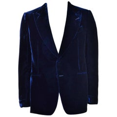 Tom Ford Navy Shelton Slim Fit Velvet Tuxedo Jacket