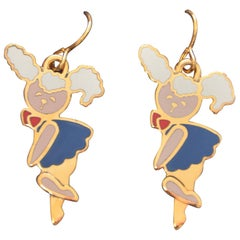 "PRADA ""Girl "" Enamel Earrings"