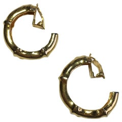 Vintage HERMES Creole Clip-on earrings in Gold Plated Metal