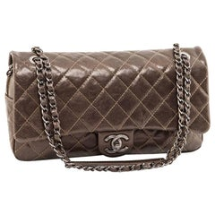 CHANEL Flap Bag in Coppered Quilted Grained Leather
