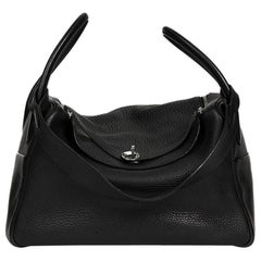 2006 Hermes Black Togo Leather Lindy 34