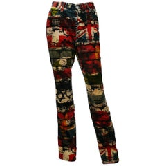 Jean Paul Gaultier Vintage Wall and Flags Print Pants Trousers