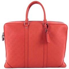 Louis Vuitton Porte-Documents Voyages Bag Damier Infini Leather PM