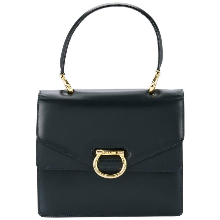 Celine Leather Toggle Kelly Style Top Handle Satchel Bag