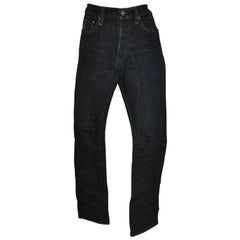 Syoaiya Signature Raw Denim 5-Pocket Button-Fly Slim-Fit Jeans