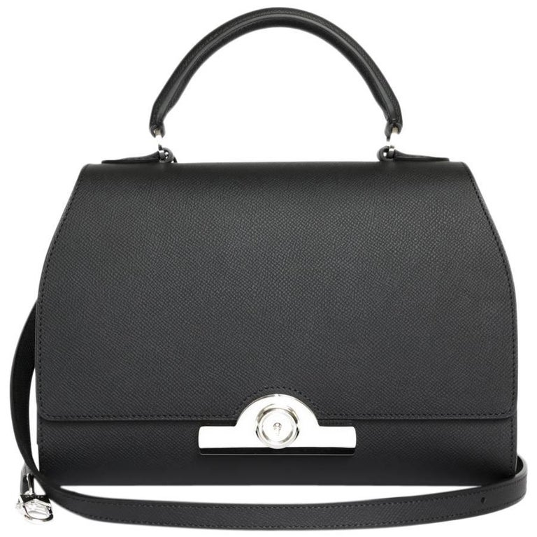 MOYNAT 'Rejane' Bag in Black Calf Leather For Sale