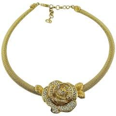 Christian Dior Vintage Rose Collar Necklace