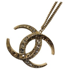 Chanel Goddess Diana Double C Pendant Necklace 2015
