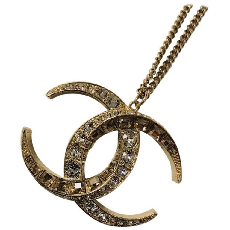 Chanel Goddess Diana Double C Pendant Necklace 2015 For Sale At 1stdibs