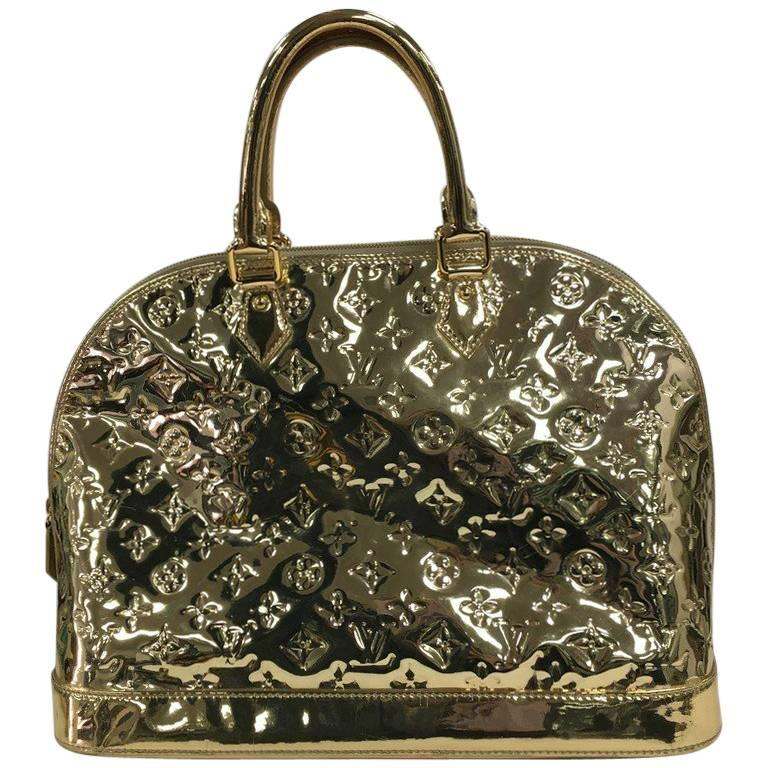 louis vuitton alma handbag miroir pvc gm at 1stdibs