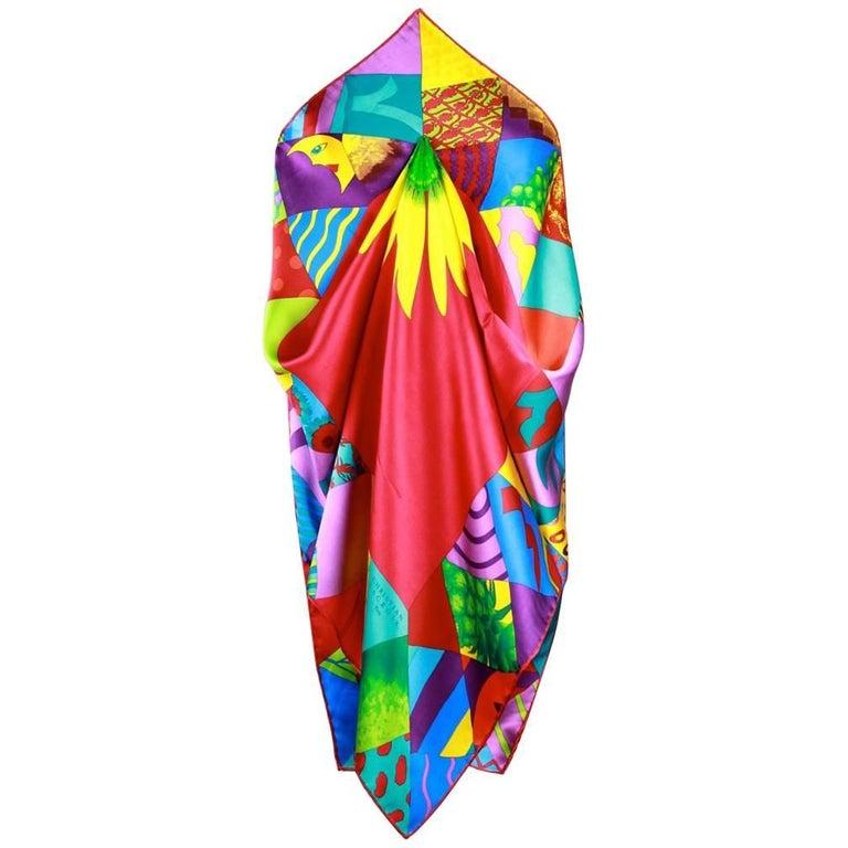christian lacroix paris1980s bold multi coloured
