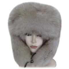 arctic fox fur trapper hat