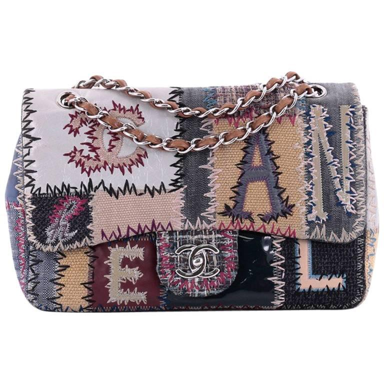 ada94762197a Chanel Classic Single Flap Bag Multicolor Patchwork Jumbo at 1stdibs