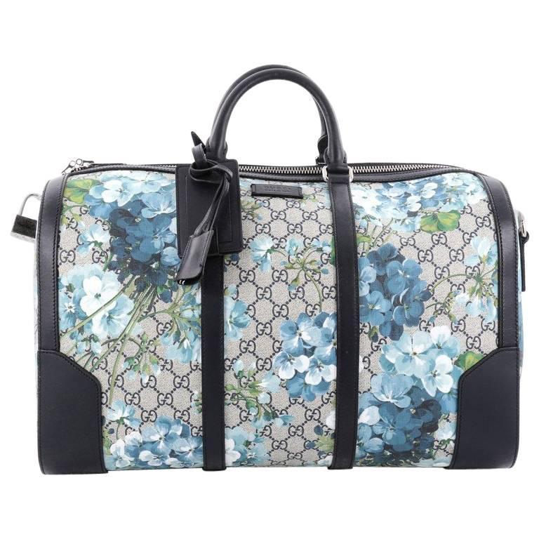 390da20675df Gucci Convertible Duffle Bag Blooms Print GG Coated Canvas Medium For Sale