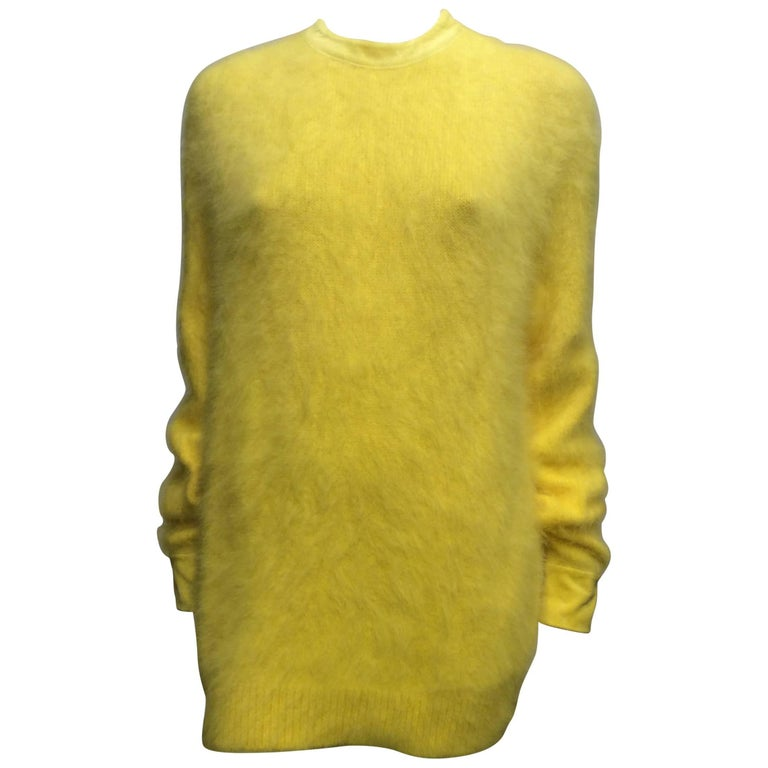 Givenchy Yellow Angora Oversized Sweater